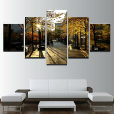 Toronto City Street 5 panel canvas Wall Art Home Decor Print Poster