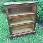 Antique Macey 3 Section Lawyer's Barrister's Stacking Bookcase