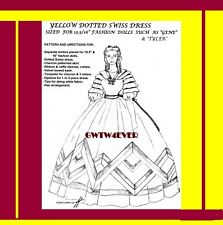 """TYLER GENE 15.5/16"""" Pattern SUELLEN Yellow Dotted Swiss Dress GONE WITH THE WIND"""