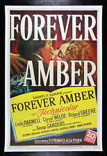 FOREVER AMBER * CineMasterpieces 1947 ORIGINAL MOVIE POSTER