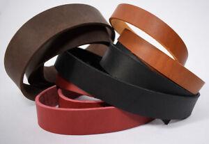 Lederriemen Ledergurt Riemen 3,5-4,0 mm schwarz braun rot Blankleder Wunschmaß