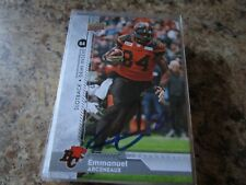 Emmanuel Arceneaux SIGNED 2018 UPPER DECK CFL FOOTBALL # 125 BC LIONS