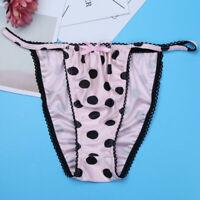 Sissy Thong Mens Lingerie Polka Dots Panties Bikini Briefs Underwear Underpants