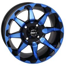 "Set of (4) 12"" STI HD6 Blue red Orange Aluminum Golf Cart Car Rim Wheels"