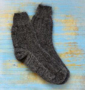 Women boot SOCKS homeknitted RUSSIAN 100% natural goat down yarn warm