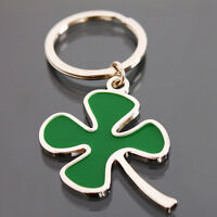 Lucky Four-leaf clover Keyring Keychain Key Chain Ring Gift