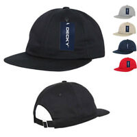 Decky Washed Cotton Relaxed Crown Flat Bill Hip Dad Style Strapback Hats Caps