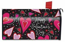 Dancing Hearts Valentine's Day Large Mailbox Cover Primitive Oversized