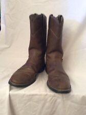 Justin Basics Crazy Cow Brown Cowboy Boots Style #JBL3001 Women's Size 6 B EUC