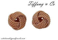 Tiffany & Co Tiffany Twist 18k Rose Gold Knot Stud Earrings D960