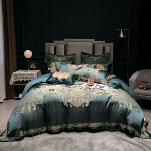 10 pcs Bedding set Luxury palace Jacquard quilt cover bed sheet/cover pillowcase