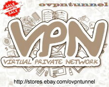 VPN ACCOUNT 31 Days SERVICE OpenVPN Unlimited Data 1Gbps Support Included P&P !