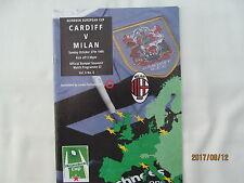 Cardiff RFC v Milan. Rugby Union. Heineken Cup 1996.
