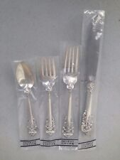 Unused New Grande Baroque 4 Pc Place Setting 230G Wallace Sterling Silver Grand