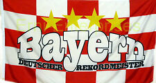 Fahne Flagge Bayern Rekordmeister 1,5x0,9 Meter m. Oesen  NEU