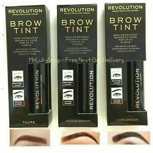 Makeup Revolution Brow Tint Semi-Permanent Eyebrow Tattoo Gel, Boxed & Sealed