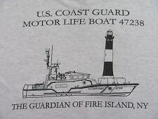 Vintage U.S. COAST GUARD Motor Life Boat 47238 Gray SS T Shirt Size M