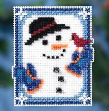 Mill Hill Beads Cross Stitch Kit with Magnet ~ INVISIBLE SNOWMAN #18-1635 Sale