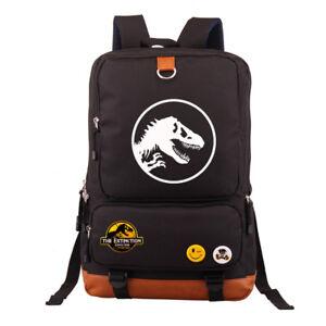 Kid Adult Jurassic World Park Oxford Backpack School Bag Laptop Travel Rucksack