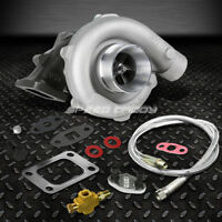 T04E T3/T4 A/R.63 57 TRIM 5-BOLT 400+HP STAGE III TURBO CHARGER+OIL FEED LINE