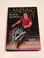 SCOTT HAMILTON SIGNED Landing It 1999 BOOK