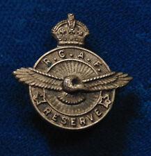 Canada KC WW2 era BIRKS RCAF Royal Canadian Air Force RESERVE pin