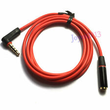 Long 1.2m Right Angle 3.5mm Male to Female 3.5mm Extention Audio Cable TRRS CTIA