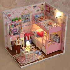 Warm Doll House Furniture Kids Diy Miniature Dust Cover 3D Wooden Dollhouse Toys