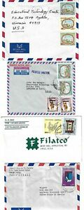KUWAIT 1970 COLLECTION OF 8 COMMERCIAL AIR MAIL COVERS TO US VARIOUS FRANKINGS