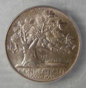 1935 Connecticut Commemorative Silver Half Dollar ~ ICG MS66, SWEET COIN!!!
