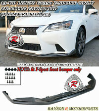 SK-Style Front Lip (Urethane) Fits 13-15 Lexus GS350 [F-Sport Bumper Only]