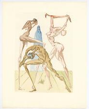 """Salvador Dali """"The Sodomites"""" Divine Comedy"""