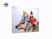 'Wolf Dog' Oil Painting - CLEARANCE SALE - $ 1 Auction Bargain