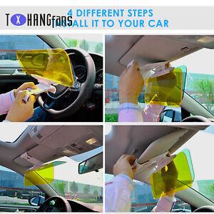 Car Sun Anti-Glare UV Blocker Fold Flip Down HD Day/Night Clear View Visor ATF