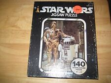 1977 vintage SEALED Star Wars jigsaw puzzle C3-PO & R2-D2 Droids KENNER Rare!