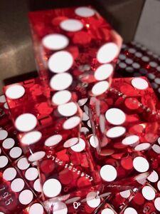 PAIR  Genuine Las Vegas Dice Red craps Games Gambling memorabilia Caesars Palace