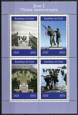 Chad 2019 MNH WWII WW2 D-Day 75th Anniv 4v M/S Military World War II Stamps