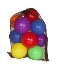 "Get Out!™ 8.5"" Inch Rubber Playground Balls 6-Pack PLUS Mesh Bag & Pump"