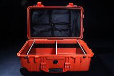 Outdoor PELI 1510 Case Trolley ORANGE incl. Deckeleinteiler und Trennwandsystem