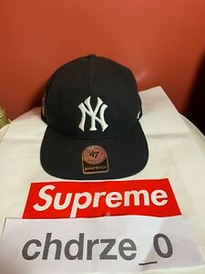 Supreme Yankee Hat Black New With Tags SS 2015