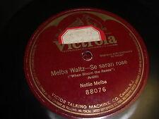 NELLIE MELBA VICTOR 78 RPM RECORD 88076 MELBA WALTZ  - SE SARAN ROSE