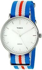 Timex Men's Weekender Tw2p91100 Silver Nylon Quartz Watch