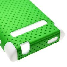 Neon Green White Case LG OPTIMUS LOGIC L35G L3 E400 DYNAMIC L38C Mesh Silicone