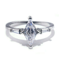 Women Fashion 925 Silver Rings Jewelry White Sapphire Wedding Ring Size 6-10