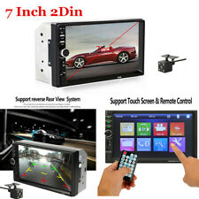 7 Inch Car Stereo FM Radio HD Mp5 Player Touch Screen Bluetooth 2Din + Camera