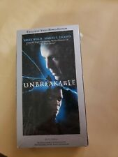 Unbreakable Special Edition Vhs Tape - (Bruce Willis / Samuel L. Jackson) New