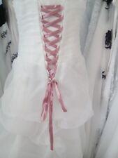 Lacet ruban ROSE POUDRE / 3 mètres - satiné pour robe de mariée/soirée