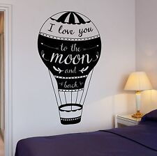 Wall Decal Love Quotes I Love You To The Moon And Back Home Interior z4019