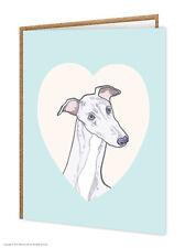 Lévrier / amoureux de chiens/ ANNIVERSAIRE/CARTE DE VOEUX/brainbox CANDY/MIGNON