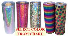 "20""x3ft Heat Transfer Vinyl Hologram Sparkle Metal Flake; cutter,press,fashion"